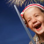 Child Smile Fireworks